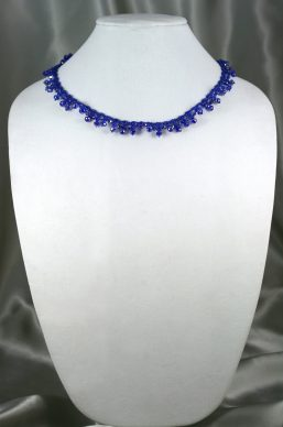 Royal Blue Crystal Lace Necklace