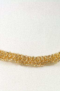 Gold Braid-Weave Necklace