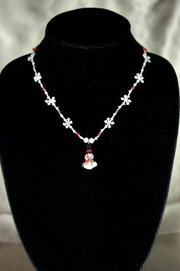 Snowflake & Snowman Necklace