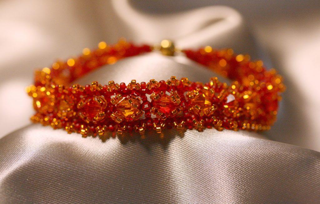 """""""Fire"""" Woven Bracelet"""