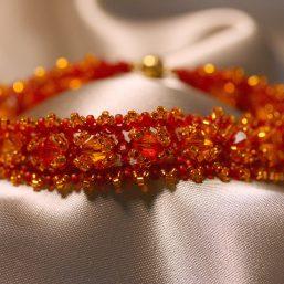 """""""Fire"""" Woven Bracelet 1"""