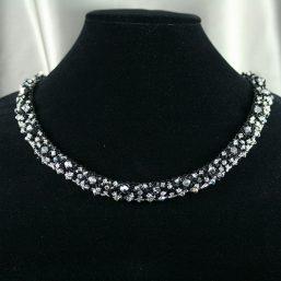 Black & Silver Crystal Necklace 2
