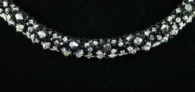 Black & Silver Crystal Necklace 3
