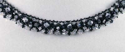 Black & Silver Crystal Necklace 5