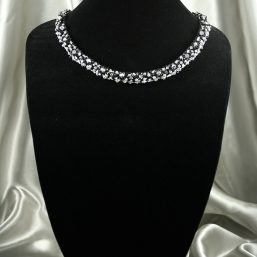 Black & Silver Crystal Necklace 1