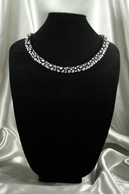 Black & Silver Crystal Necklace