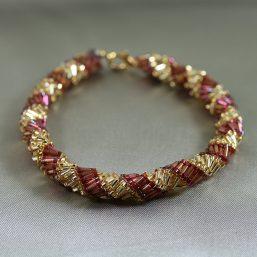 Gold Purple Spiral Bracelet 1