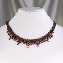Garnet Woven Necklace 2