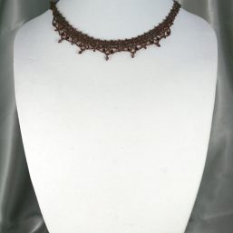 Garnet Woven Necklace 1