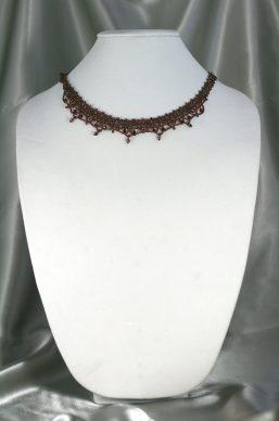 Garnet Woven Necklace