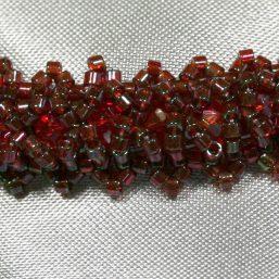 Garnet Woven Bracelet 2