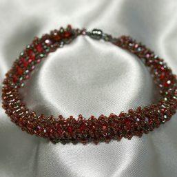 Garnet Woven Bracelet 1