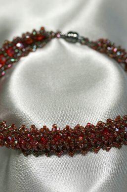Garnet Woven Bracelet