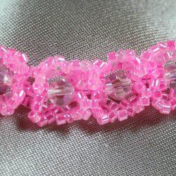 Pink & Pink Crystal Bracelet 2