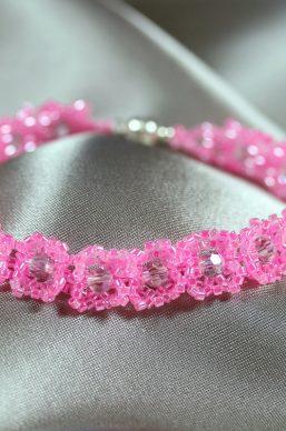 Pink & Pink Crystal Bracelet