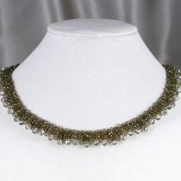 Champagne Crystal Woven Necklace 2