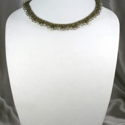Champagne Crystal Woven Necklace 1