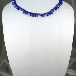 Royal Blue Crystal Lace Necklace 1