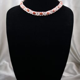 Goldstone and Cream Pearl Necklace 1