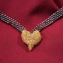 Gold Heart Necklace 2