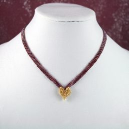 Gold Heart Necklace 1