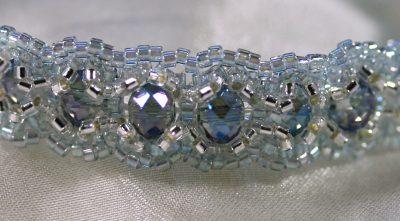 Blue/Silver Woven Bracelet 2
