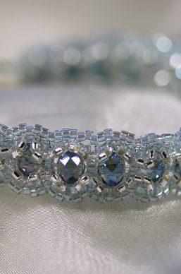 Blue/Silver Woven Bracelet