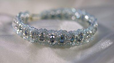 Blue/Silver Woven Bracelet 1