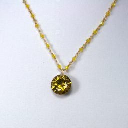 Yellow Crystal Necklace 2