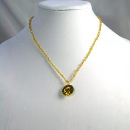 Yellow Crystal Necklace 1