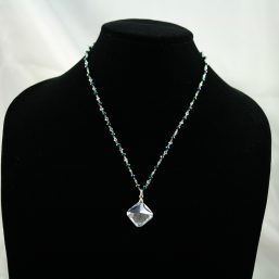 Green and Silver Crystal Necklace 1