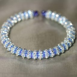 """""""Engage"""" Silvery-Blue Memory Wire Bracelet 1"""
