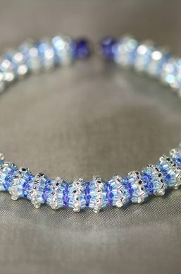 """Engage"" Silvery-Blue Memory Wire Bracelet"