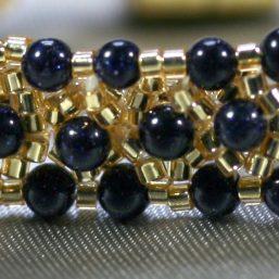Gold & Blue Goldstone Bracelet 2