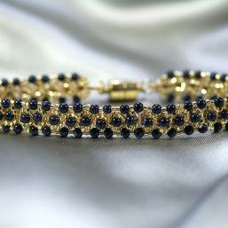 Gold & Blue Goldstone Bracelet 1