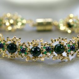 Crowned Goldstone Bracelet 1