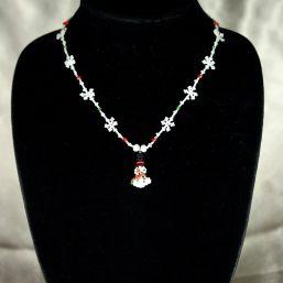 Snowflake & Snowman Necklace 1
