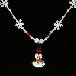 Snowflake & Snowman Necklace 2
