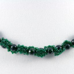 Green Goldstone Ribbon Necklace