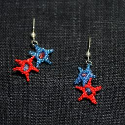 Patriotic Red & Blue Stars with Crystals
