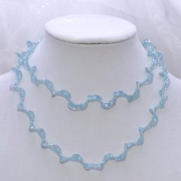 Blue Spiral Infinity Necklace