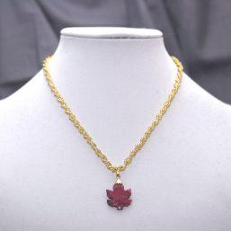 Rhondite Leaf Necklace