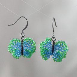 Green-Blue Butterfly Earrings
