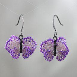 Dark-Light Purple Butterfly Earrings