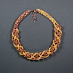 Gold & Rose Gold Weave Choker