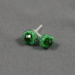 Green Metal-less Stud Earring