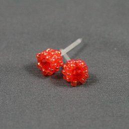 Orange Metal-less Stud Earring