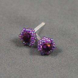 Purple Metal-less Stud Earring