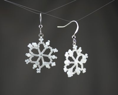 Frosted 6-Point Snowflake