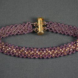 Fine Netted Bracelet (Purple/Gold)